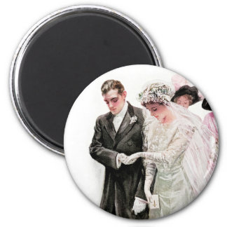 Harrison Fisher: The Wedding 2 Inch Round Magnet
