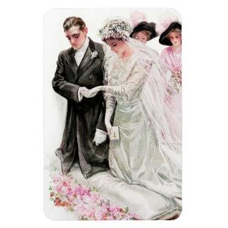 Harrison Fisher: The Wedding Rectangular Photo Magnet