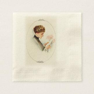 Harrison Fisher Their Heart's Desire Barbara Paper Napkin