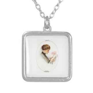 Harrison Fisher Their Heart's Desire Barbara Square Pendant Necklace