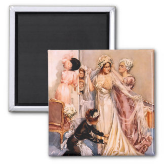 Harrison Fisher: Wedding 2 Inch Square Magnet