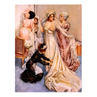 Harrison Fisher: Wedding Postcard