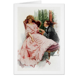 Harrison Fisher When a Man Marries Making Amends Card