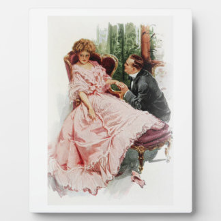 Harrison Fisher When a Man Marries Making Amends Plaque