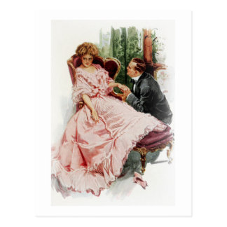 Harrison Fisher When a Man Marries Making Amends Postcard