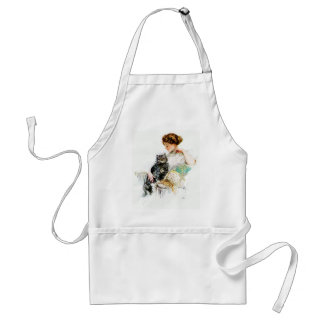 Harrison Fisher: Woman with Cat Adult Apron