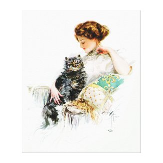 Harrison Fisher: Woman with Cat