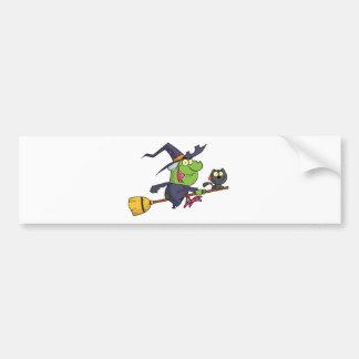 Harrison rode a broomstick with a cat car bumper sticker