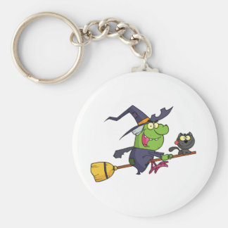 Harrison rode a broomstick with a cat keychain