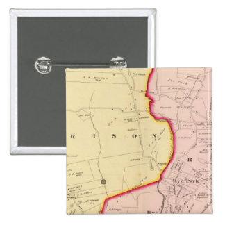 Harrison, Rye, New York 3 Pinback Button