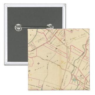 Harrison, Rye, Nueva York Pin Cuadrado