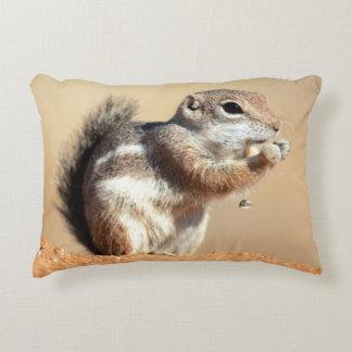 Harris's antelope squirrel (Ammospermophilus) Decorative Pillow