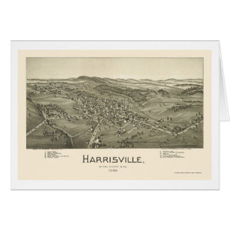Harrisville, WV Panoramic Map - 1899 Card