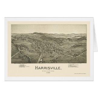 Harrisville, WV Panoramic Map - 1899 Greeting Cards