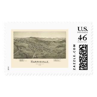 Harrisville, WV Panoramic Map - 1899 Postage Stamp