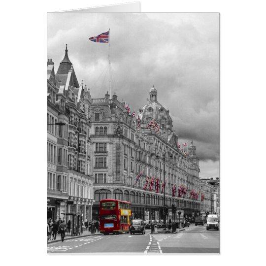 Harrods of Knightsbridge bw hdr Card