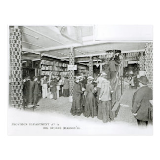Harrods Provision Department, c.1901 Postcard