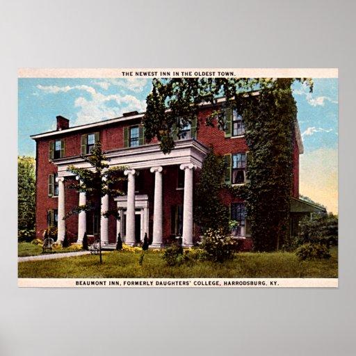 Harrodsburg, Kentucky Beaumont Inn Poster