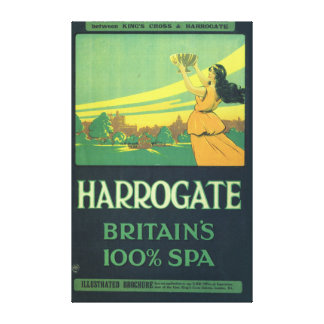 Harrogate britains spa replica railway stretched canvas print