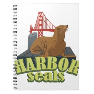 Harror Seals Spiral Notebook