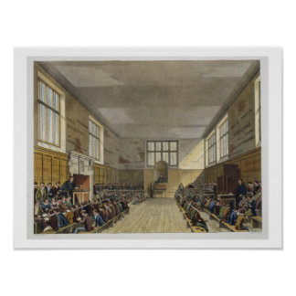 Harrow School Room from 'History of Harrow School' Poster