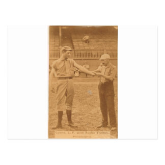 Harry 1887 Lyon y Billy Taylor Tarjeta Postal