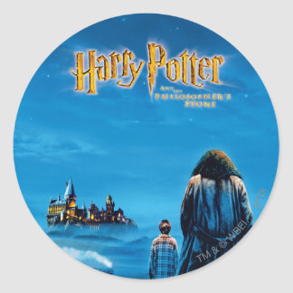 Harry and Hagrid International Movie Poster Round Stickers