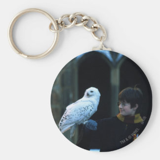 Harry and Hedwig 2 Basic Round Button Keychain