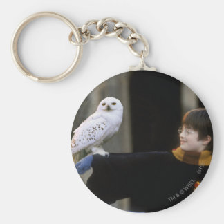 Harry and Hedwig 3 Basic Round Button Keychain