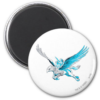 Harry and Hermione on a Hippogriff 2 Inch Round Magnet