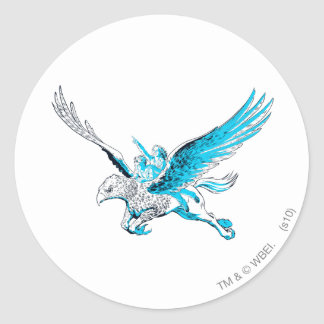 Harry and Hermione on a Hippogriff Classic Round Sticker