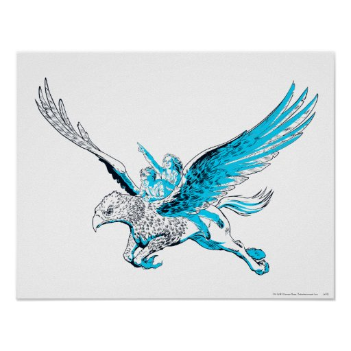 Harry and Hermione on a Hippogriff Posters