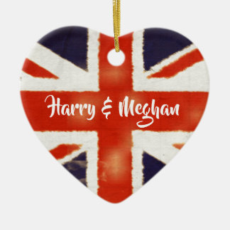 Harry and Meghan Royal Wedding UK Flag Ornament