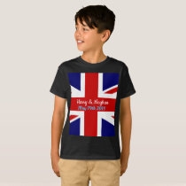 Harry and Meghan, Union jack. T-Shirt
