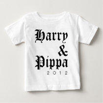 Harry and Pippa 2012 Hip Baby T-Shirt