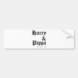 Harry and Pippa 2012 Hip Car Bumper Sticker