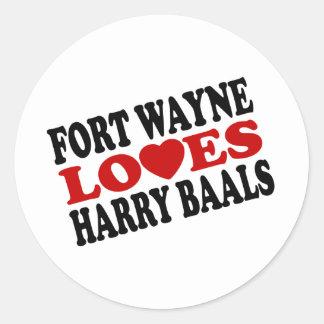 Harry Baals Classic Round Sticker