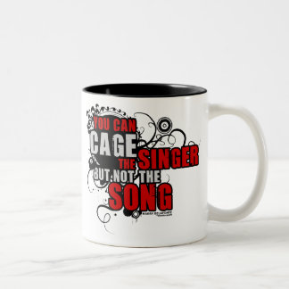 Harry Belafonte Quote (Color) Two-Tone Coffee Mug