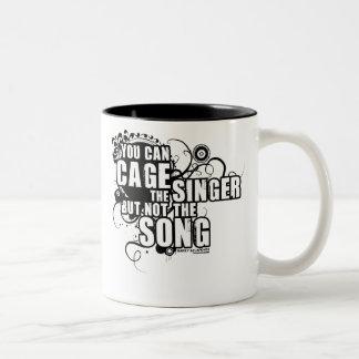 Harry Belafonte Quote Two-Tone Coffee Mug