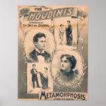 Harry & Bessie HOUDINI VAUDEVILLE Poster