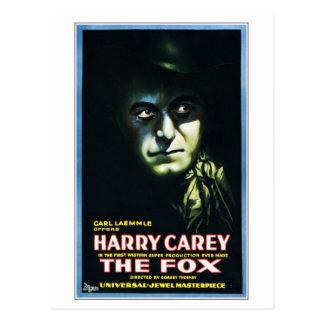 "Harry Carey in ""The Fox"" Postcard"