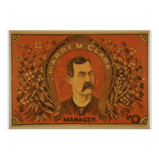 Harry . Clark, 'Manager' Vintage Theater Print