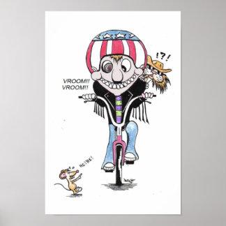 Harry feliz y Hooch el gato (motoristas?) Impresiones