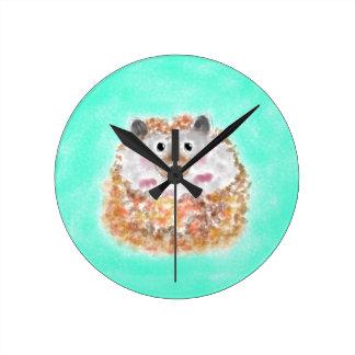 Harry G. Hedgehog Clock Reloj Redondo Mediano