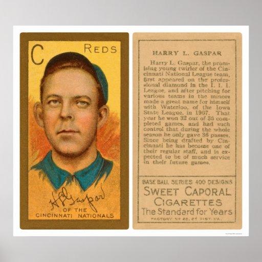Harry Gaspar Reds Baseball 1911 Posters