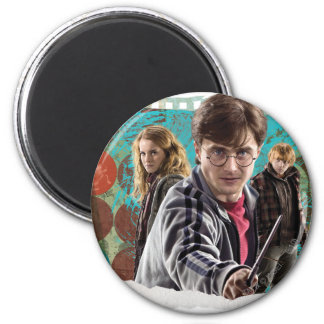 Harry, Hermione, and Ron 1 2 Inch Round Magnet