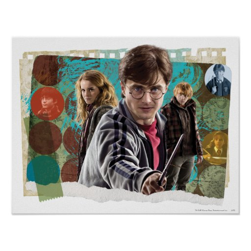 Harry, Hermione, and Ron 1 Print