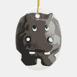 Harry Hippo Ceramic Ornament