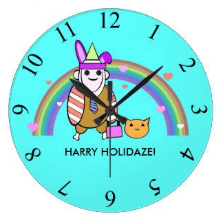 Harry Holidaze Large Clock