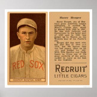 Harry Hooper Red Sox Baseball 1912 Poster